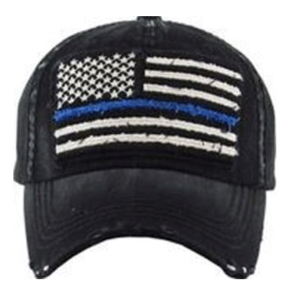 USA Flag Blue Line