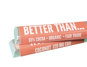 CBD Coconut Chocolate Bars - Happycanabis.com