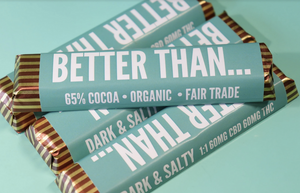 Dark & Salty 1:1 Chocolate Bars - Happycanabis.com