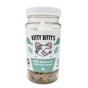 Kitty Bittys - CBD Cat Treats Wild Salmon - Happycanabis.com