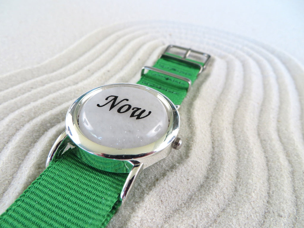 White Jade Zen Watch Green