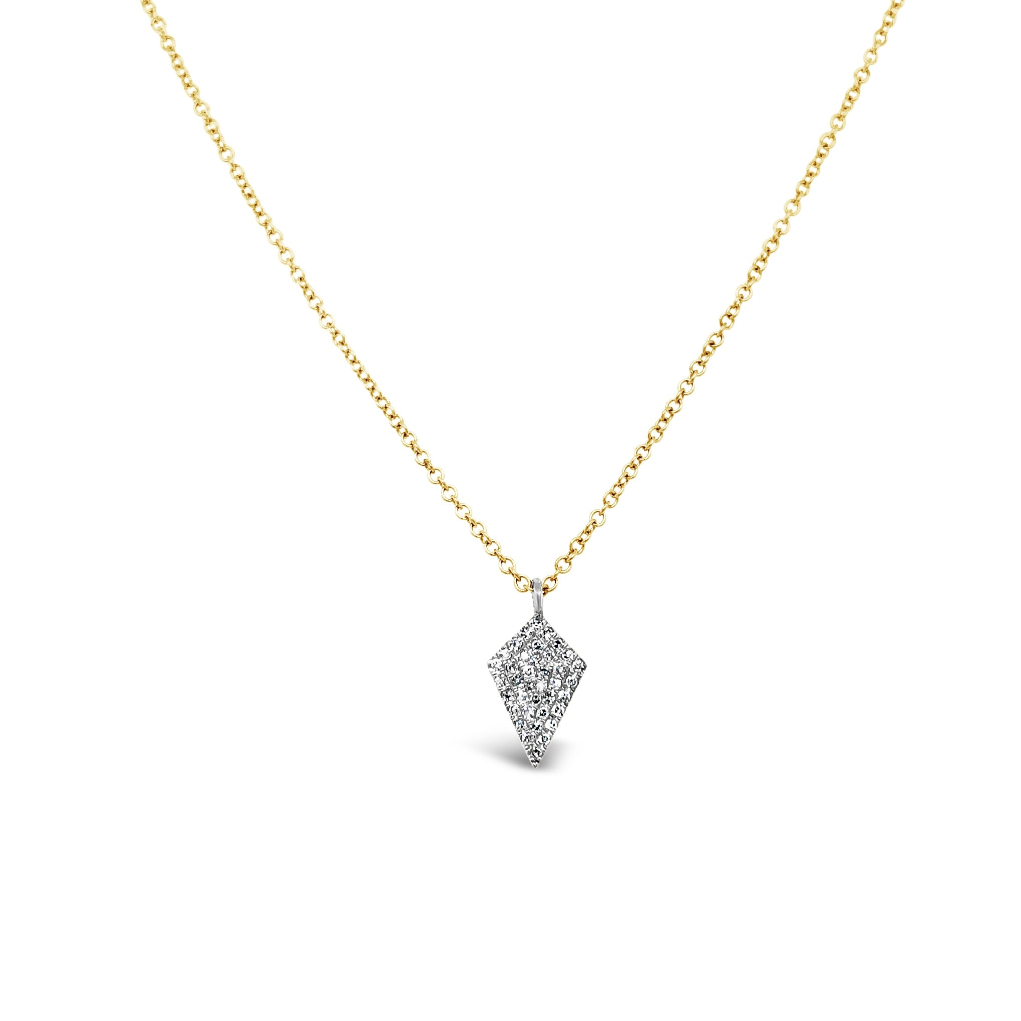 Pave Diamond Kite Shaped Pendant