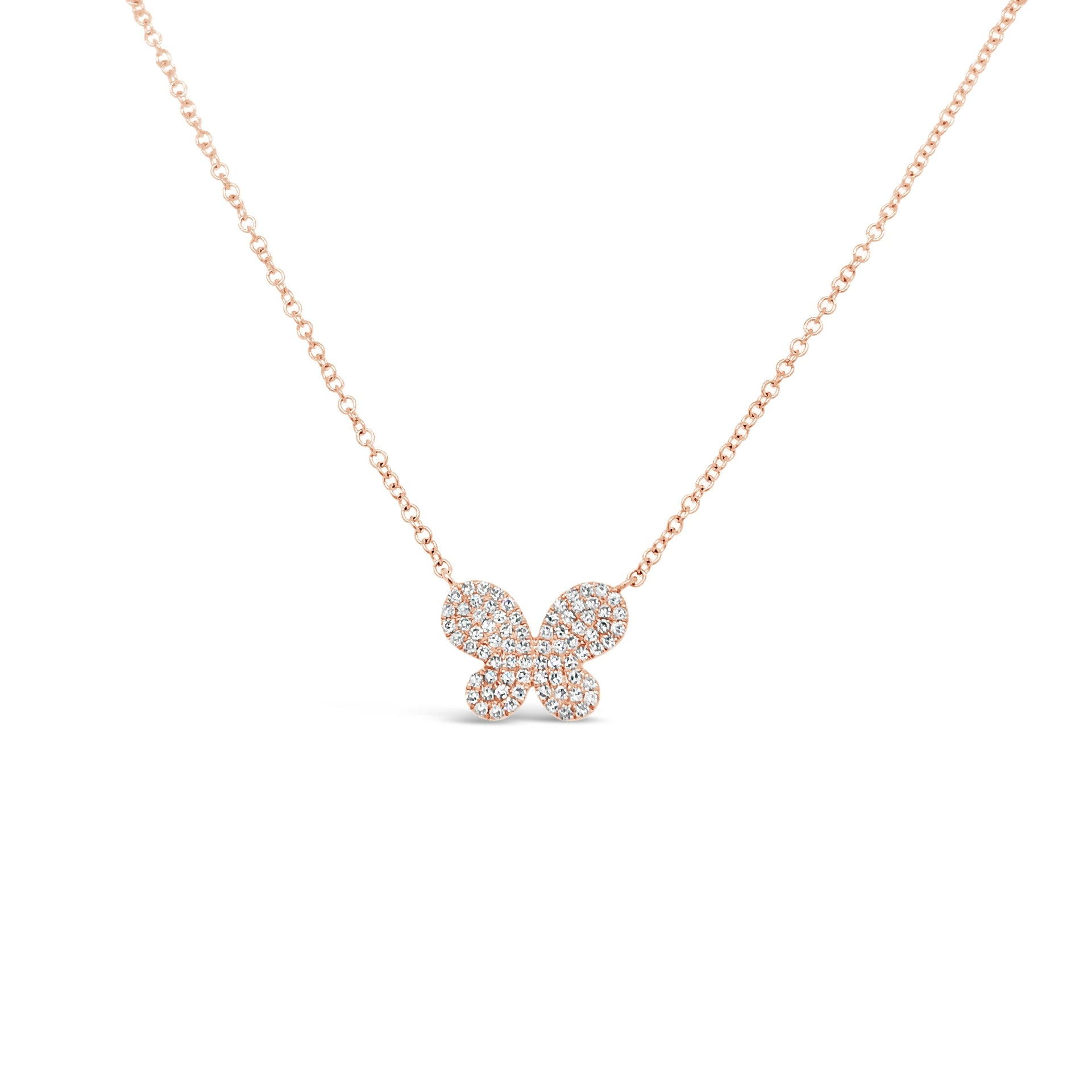 Pave Diamond Butterfly Necklace