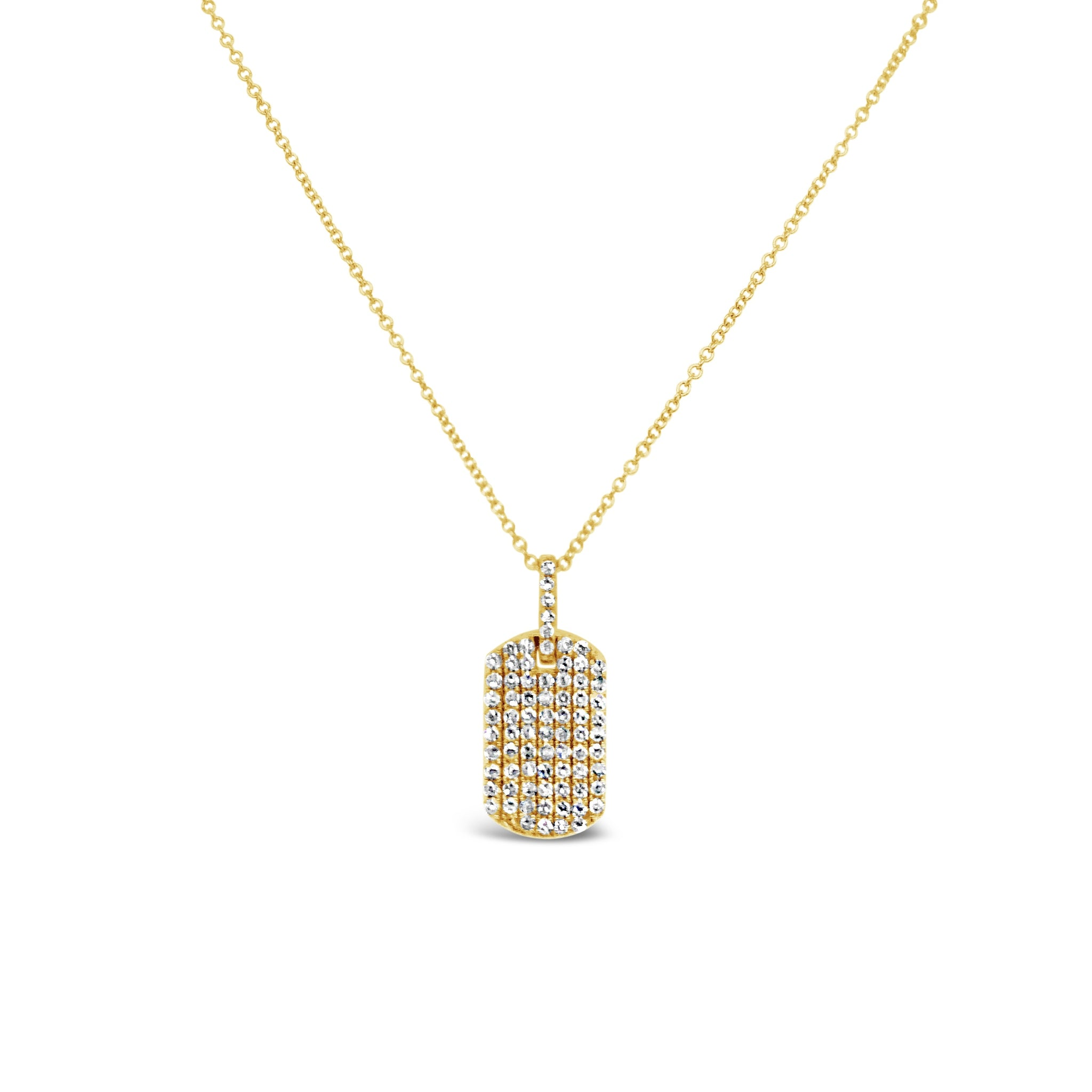 Pave Diamond ID Tag Pendant