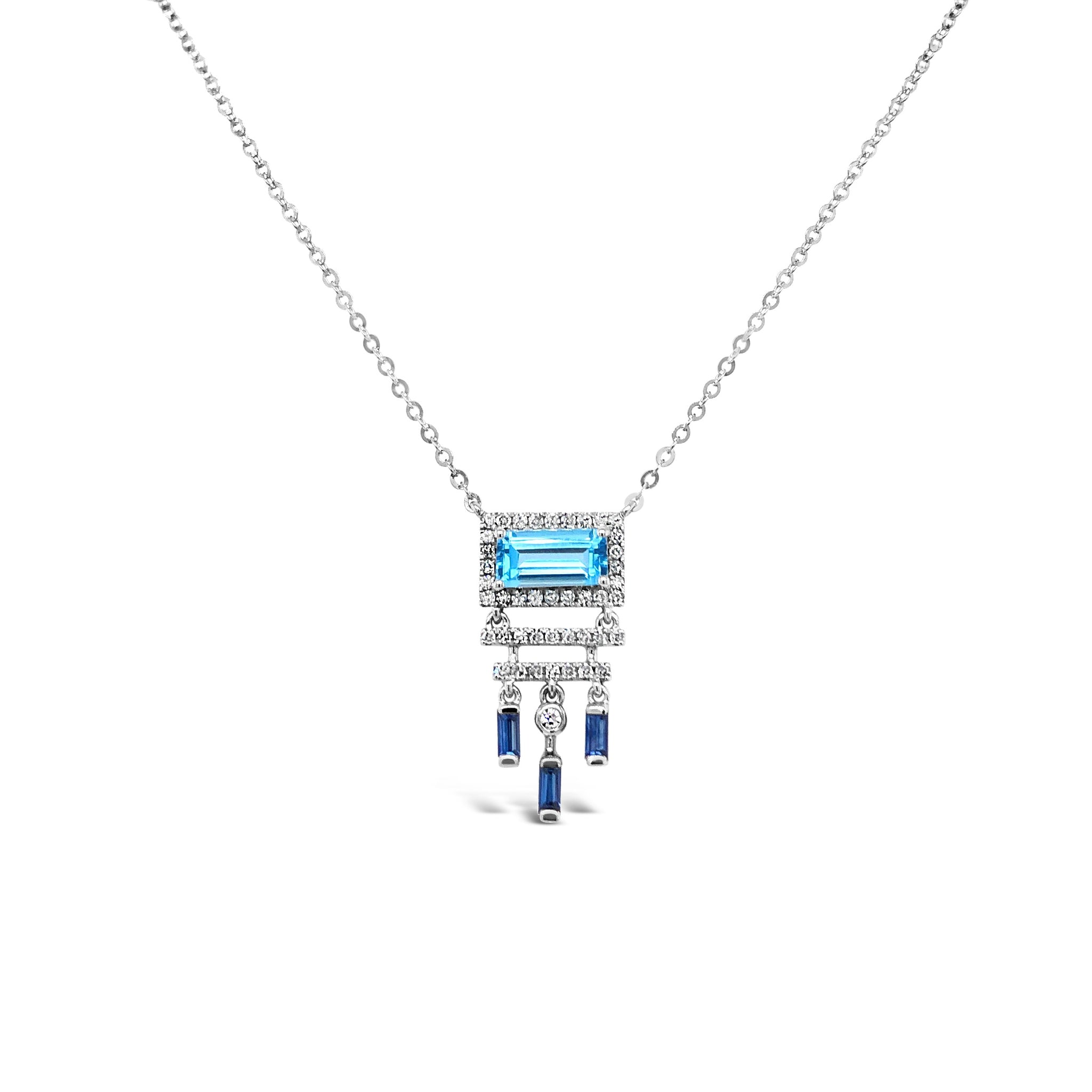 Diamond & Topaz Deco Necklace