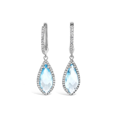 Blue Topaz Drop Earring