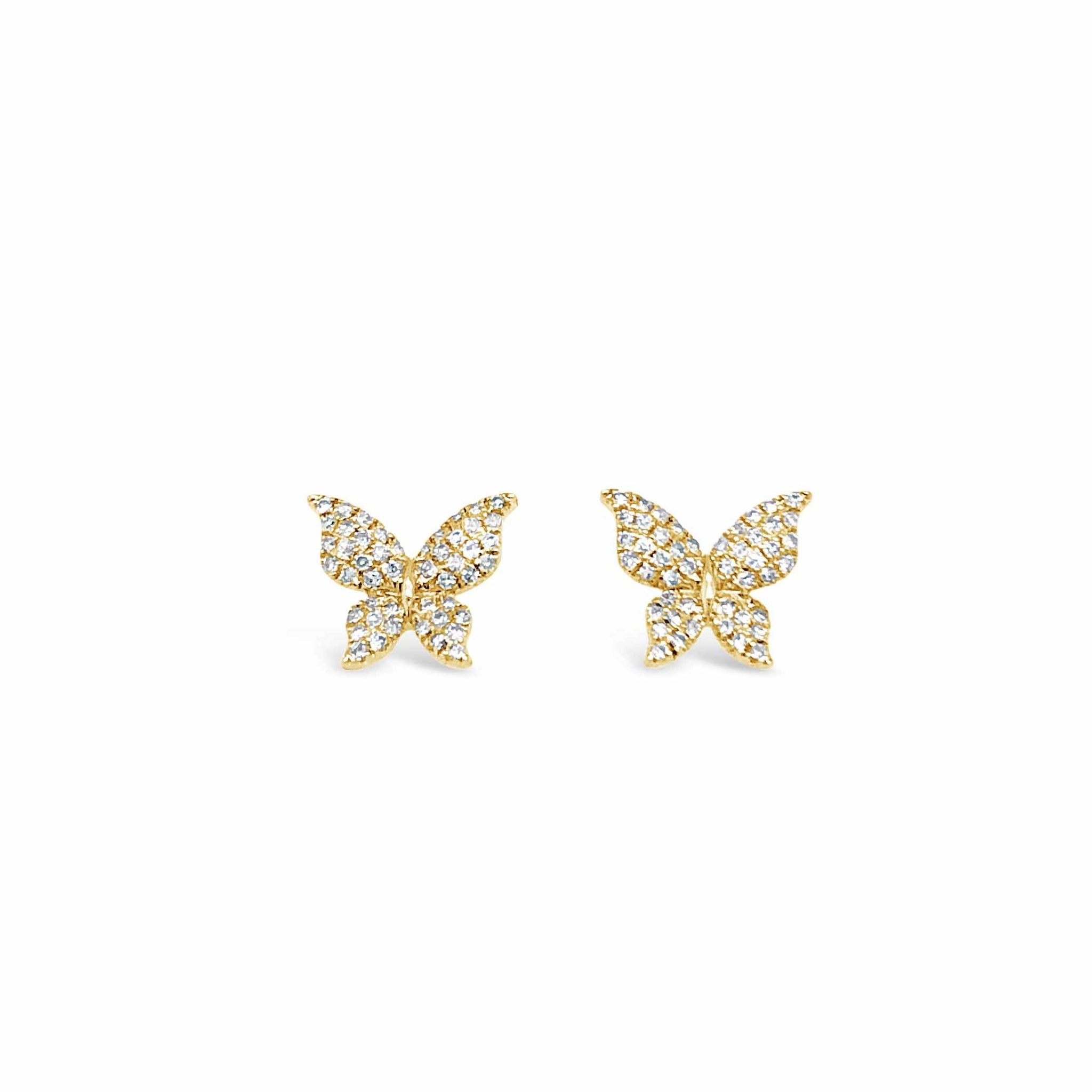 Pave Diamond Butterfly Stud Earring