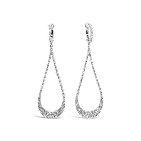 Pave Diamond Teardrop Earring