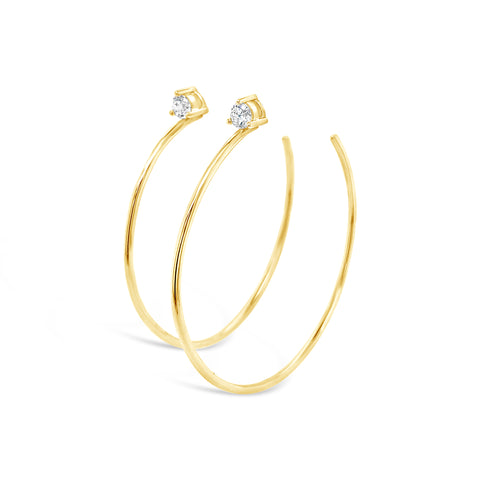 Diamond Stud Hoop