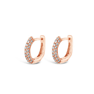 Tiny Pave Diamond Huggie Earring