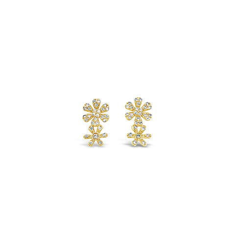 Double Flower Stud Earring