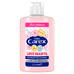 Carex 300ml Love Hearts Hand Cleansing Gel -  Bulk Pack of 6