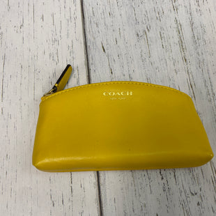 Primary Photo - BRAND: COACH STYLE: MAKEUP BAG COLOR: YELLOW SKU: 144-144103-30939WEAR