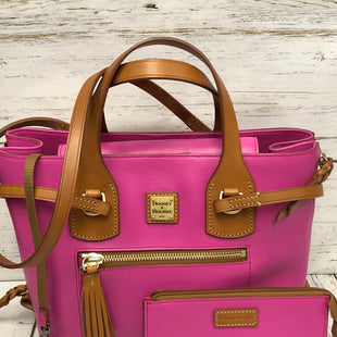 Primary Photo - BRAND: DOONEY AND BOURKE STYLE: HANDBAG DESIGNER COLOR: HOT PINK SIZE: LARGE OTHER INFO: W/LONG & SHORT STRAP & COIN PURSE SKU: 144-14483-86639