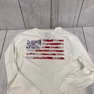 Primary Photo - BRAND: POLO RALPH LAUREN STYLE: TOP LONG SLEEVE COLOR: RED WHITE BLUE SIZE: L OTHER INFO: NEW! SKU: 144-14411-75081R