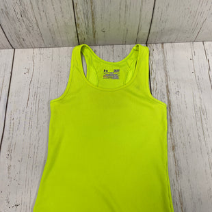 Primary Photo - BRAND: UNDER ARMOUR STYLE: ATHLETIC TANK TOP COLOR: NEON SIZE: S SKU: 144-14483-83664