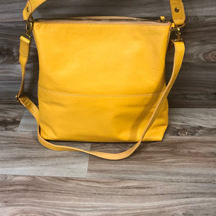 Primary Photo - BRAND: FOSSIL STYLE: HANDBAG DESIGNER COLOR: MUSTARD SIZE: LARGE OTHER INFO: AMELIA HOBO SKU: 144-14483-93278