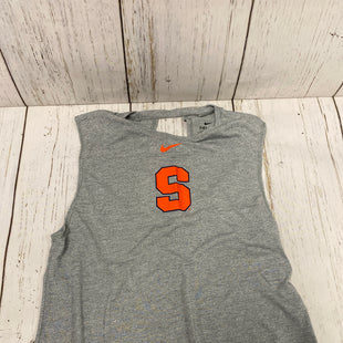 Primary Photo - BRAND: NIKE APPAREL STYLE: ATHLETIC TANK TOP COLOR: GREY SIZE: M SKU: 144-14483-86434