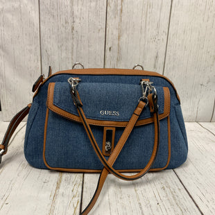 Primary Photo - BRAND: GUESS STYLE: HANDBAG COLOR: DENIM SIZE: LARGE OTHER INFO: NEW! SKU: 144-144136-1210WITH LONG STRAP