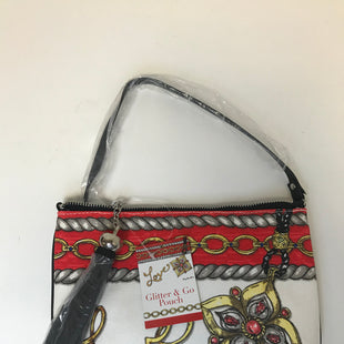 Primary Photo - BRAND: BRIGHTON STYLE: HANDBAG DESIGNER COLOR: WHITE RED SIZE: SMALL OTHER INFO: NEW/ GLITTER AND GO POUCH SKU: 144-14411-76280