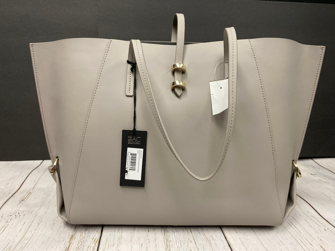 Primary Photo - BRAND:    CLOTHES MENTOR <BR>STYLE: HANDBAG DESIGNER <BR>COLOR: GREY <BR>SIZE: LARGE <BR>OTHER INFO: ZAC POSEN  - GUSSET BAG LARGE NEW <BR>SKU: 144-144137-804