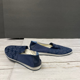 Primary Photo - BRAND: COACH STYLE: SHOES FLATS COLOR: NAVY SIZE: 9.5 SKU: 144-144112-9100WEAR