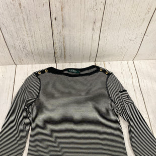 Primary Photo - BRAND: RALPH LAUREN STYLE: TOP LONG SLEEVE COLOR: BLACK WHITE SIZE: L OTHER INFO: NEW! SKU: 144-14483-78488