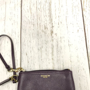 Primary Photo - BRAND: COACH STYLE: WRISTLET COLOR: EGGPLANT SKU: 144-14483-85545
