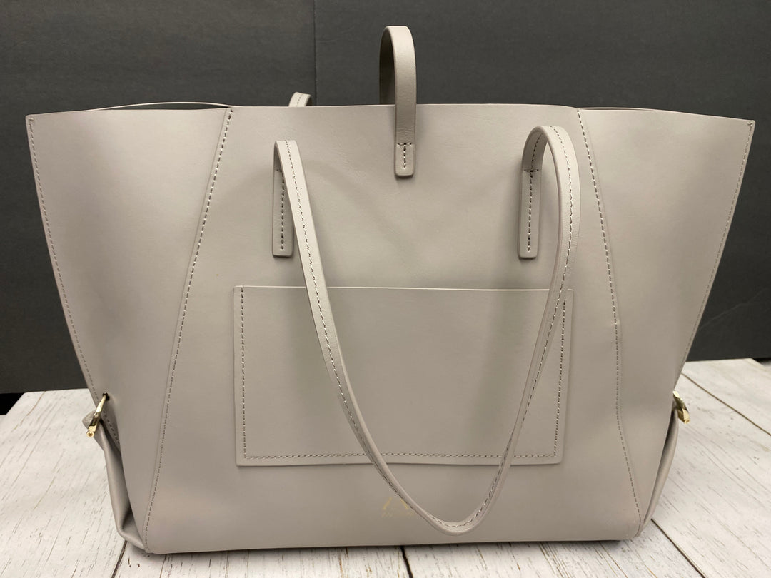 Photo #1 - BRAND:    CLOTHES MENTOR <BR>STYLE: HANDBAG DESIGNER <BR>COLOR: GREY <BR>SIZE: LARGE <BR>OTHER INFO: ZAC POSEN  - GUSSET BAG LARGE NEW <BR>SKU: 144-144137-804