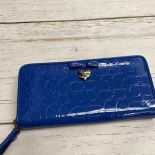 Primary Photo - BRAND: COACH STYLE: WALLET COLOR: BLUE SIZE: LARGE OTHER INFO: NEW!   F49508 SKU: 221-22196-1501