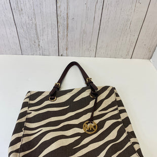 Primary Photo - BRAND: MICHAEL KORS STYLE: TOTE COLOR: ZEBRA PRINT SIZE: LARGE OTHER INFO: JET SET CANVAS SKU: 144-14483-88408