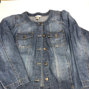 Primary Photo - BRAND: CJ BANKS STYLE: JACKET OUTDOOR COLOR: DENIM SIZE: 2X OTHER INFO: NEW! SKU: 221-22150-7698