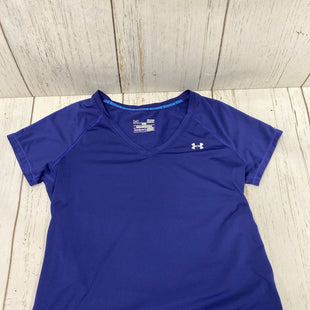 Primary Photo - BRAND: UNDER ARMOUR STYLE: ATHLETIC TOP SHORT SLEEVE COLOR: ROYAL BLUE SIZE: S SKU: 144-14483-84543