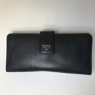 Primary Photo - BRAND: FOSSIL STYLE: WALLET COLOR: BLACK SIZE: MEDIUM SKU: 144-144103-31300