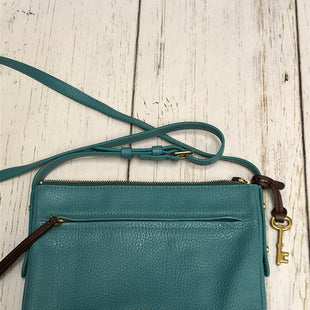 Primary Photo - BRAND: FOSSIL STYLE: HANDBAG COLOR: TEAL SIZE: SMALL OTHER INFO: COW HIDE LEATHER SKU: 144-14483-84092