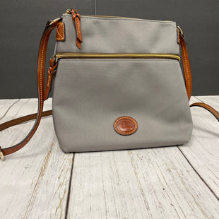 Primary Photo - BRAND: DOONEY AND BOURKE O STYLE: HANDBAG DESIGNER COLOR: TAUPE SIZE: MEDIUM OTHER INFO: SOME OIL STAINS SKU: 144-144127-2156