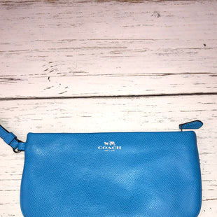 Primary Photo - BRAND: COACH STYLE: WRISTLET COLOR: BLUE SKU: 144-14411-72403