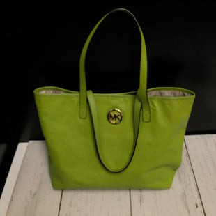 Primary Photo - BRAND: MICHAEL KORS STYLE: TOTE COLOR: LIME GREEN SIZE: LARGE OTHER INFO: LITTLE WEAR ON BOTTOM SKU: 144-14483-84988