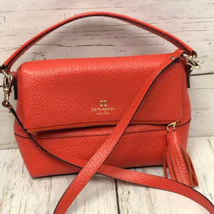 Primary Photo - BRAND: KATE SPADE STYLE: HANDBAG DESIGNER COLOR: ORANGE SIZE: MEDIUM OTHER INFO: PEBBLE LEATHER FOLDOVER CROSSBODY - W/DUST BAG SKU: 144-14483-85550