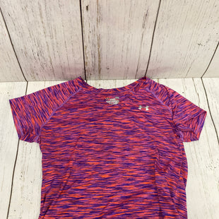 Primary Photo - BRAND: UNDER ARMOUR STYLE: ATHLETIC TOP SHORT SLEEVE COLOR: ORANGE BLUE SIZE: L SKU: 144-14483-85116