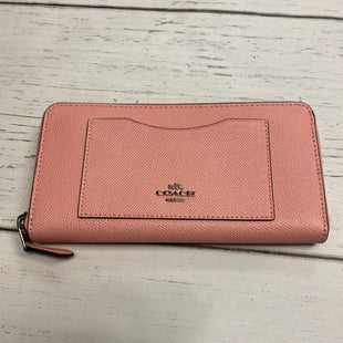 Primary Photo - BRAND: COACH STYLE: WALLET COLOR: PEACH SIZE: LARGE OTHER INFO: F54007 SKU: 221-22111-21886