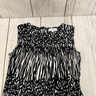 Primary Photo - BRAND: CALVIN KLEIN STYLE: TOP SLEEVELESS COLOR: BLACK WHITE SIZE: S SKU: 221-22150-6255
