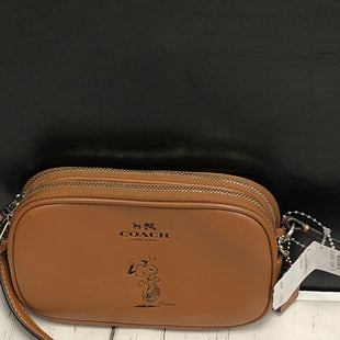 Primary Photo - BRAND: COACH STYLE: HANDBAG DESIGNER COLOR: BROWN SIZE: SMALL OTHER INFO: F65195 SNOOOPY CROSS POUCH/NEW SKU: 144-14411-74333