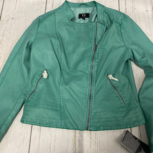 Primary Photo - BRAND:    CLOTHES MENTOR STYLE: JACKET OUTDOOR COLOR: GREEN SIZE: M OTHER INFO: G BY GIULIANA - NEW!- HSN SKU: 144-144103-26337