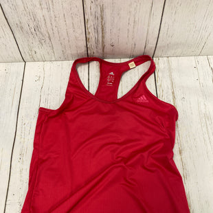 Primary Photo - BRAND: ADIDAS STYLE: ATHLETIC TANK TOP COLOR: RED SIZE: M SKU: 144-14483-86567
