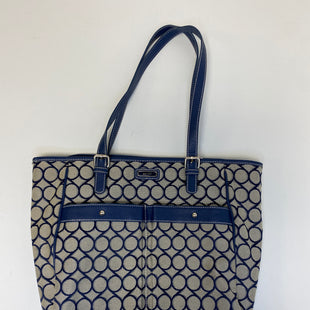 Primary Photo - BRAND: NINE WEST STYLE: TOTE COLOR: BLUE WHITE SIZE: LARGE SKU: 144-144103-31055