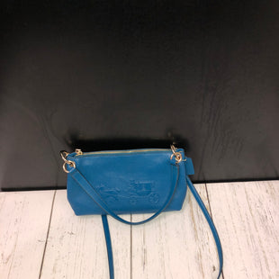 Primary Photo - BRAND: COACH STYLE: HANDBAG DESIGNER COLOR: TEAL SIZE: MEDIUM SKU: 144-144137-612