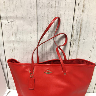 Primary Photo - BRAND: COACH STYLE: TOTE COLOR: RED SIZE: LARGE OTHER INFO: F34099-CROSS GRAIN SKU: 144-144129-314