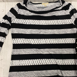 Primary Photo - BRAND: MICHAEL BY MICHAEL KORS STYLE: TOP LONG SLEEVE COLOR: BLACK WHITE SIZE: XL SKU: 221-22199-2458