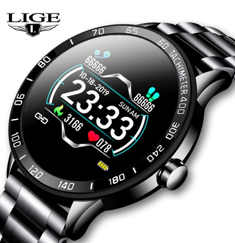 Lige Luxury Stainless Steel Smartwatch